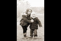 Brother and sister outdoors near Stratford upon Avon