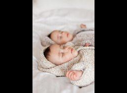 Twin babies photographed in Birmingham