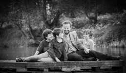 father ans sons photographed near stratford-upon-avon