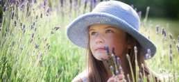 family-photography-girl and lavender