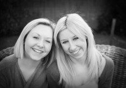 Family photoshoot -Teenager sisters photographed at home in Warwickshire