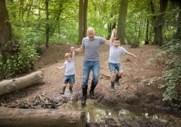 Family photography in the woods in Warwickshire