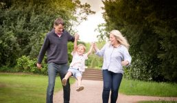 Parents and child in Worcestershire