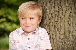 Boy by a tree in Worcestershire