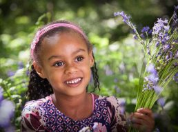 children's-photographer-stratford-upon-avon-girl and blubells