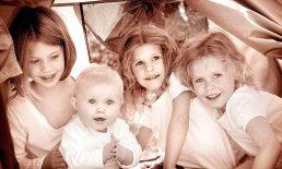 children photographed near Birmingham