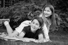 brother and sister by family-photographer-Leamington-Spa
